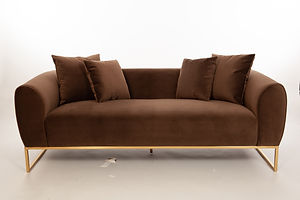 Lou Sofa Espresso Dreamscene Creative Modern Mid Century Art Deco Furniture San Francisco Rental Bay Area Wedding