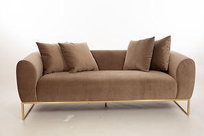 Lou Sofa Mink Dreamcene Creaive San Francisco Design Production Furniture Rental Art Deco Modern Wedding