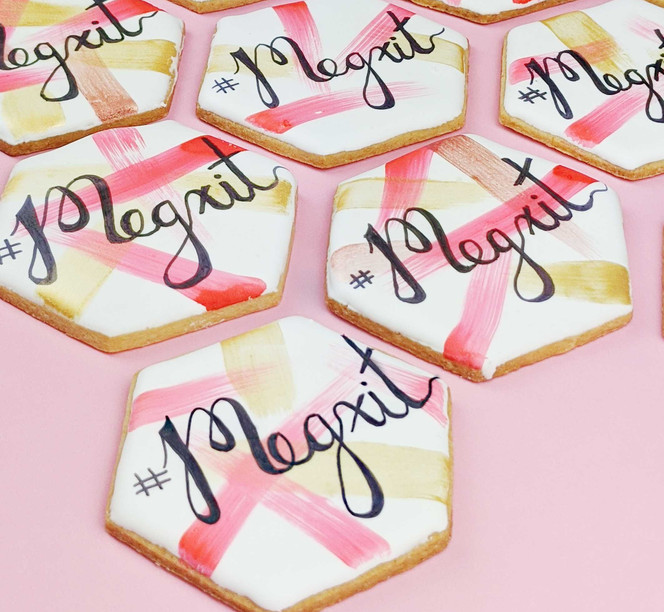 Calligraphy Sugar Cookies
