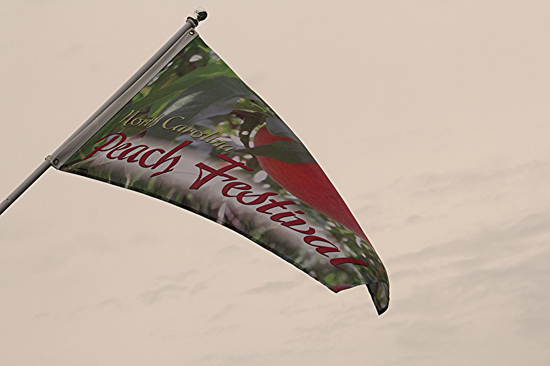 Peach Festival Flags