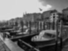 Grand Canal Flying Black & White)- Venic