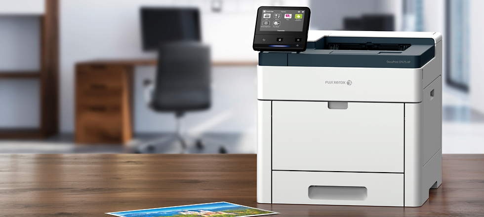 Intelligent and compact A4 colour printer