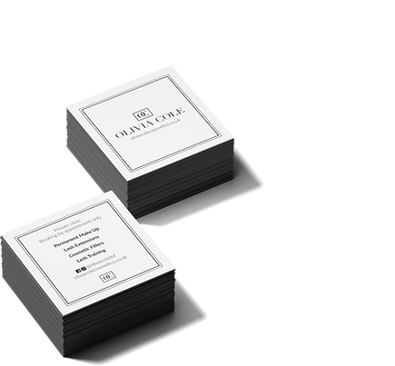 Olivia Cole Square Business Card Mockup.