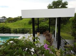 Pool side pavillion