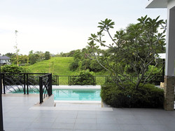 View from living to pool area