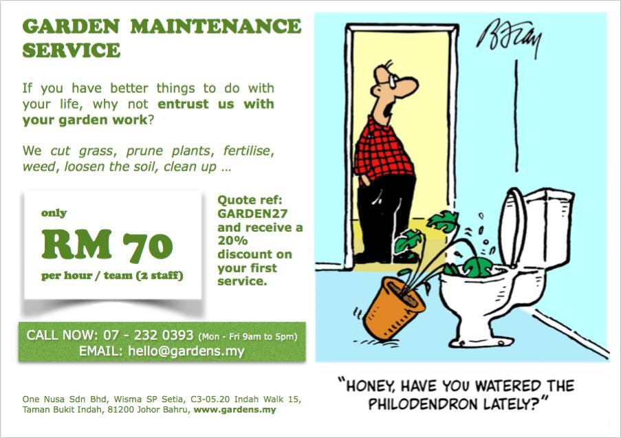 garden maintenance Nusajaya
