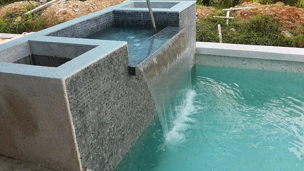 New pool at Villa Desa, Ledang Heights