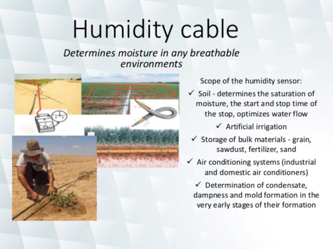 Humidity cable sensor