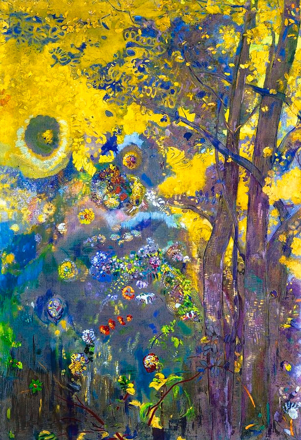 5-trees-on-a-yellow-background-odilon-re