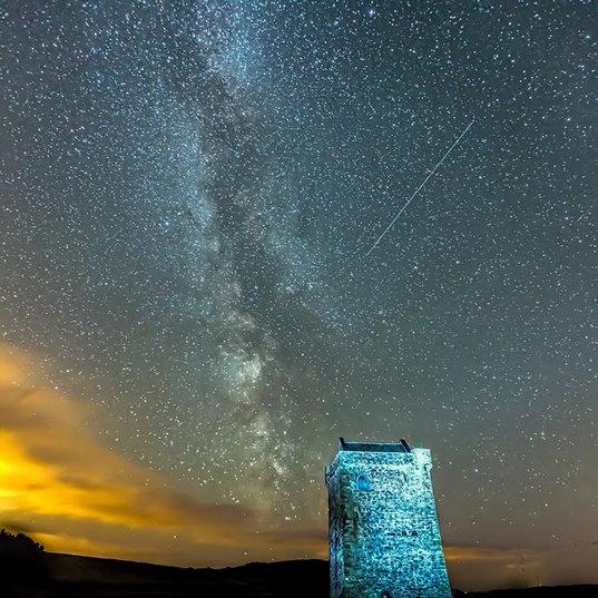 Rockfleet Castle & Milky Way by Steve Hanley