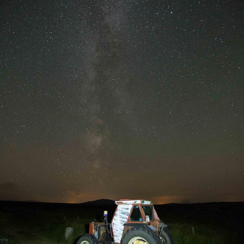 Milky Way under rural skies of Ballycroy - photo by Steven Hanley