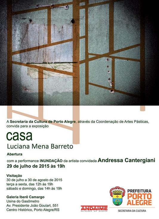 Abertura da exposição CASA com a participação da performer Andressa Cantergiani apresentando INUNDAÇ