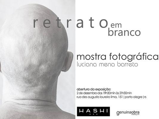 segue a mostra  Retratos em Branco na galeria do Hashi