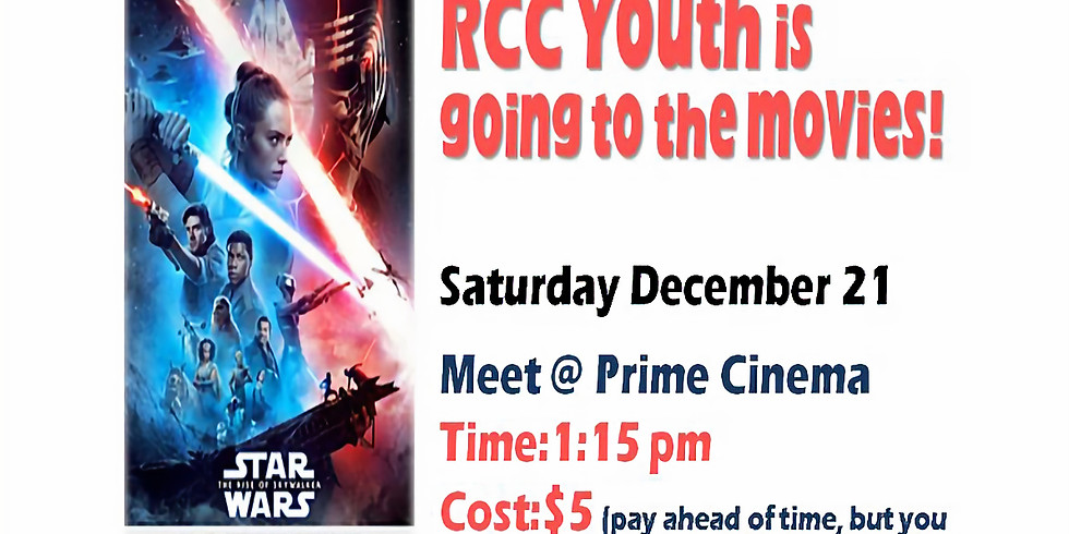 RCC YOUTH is going to the movies!