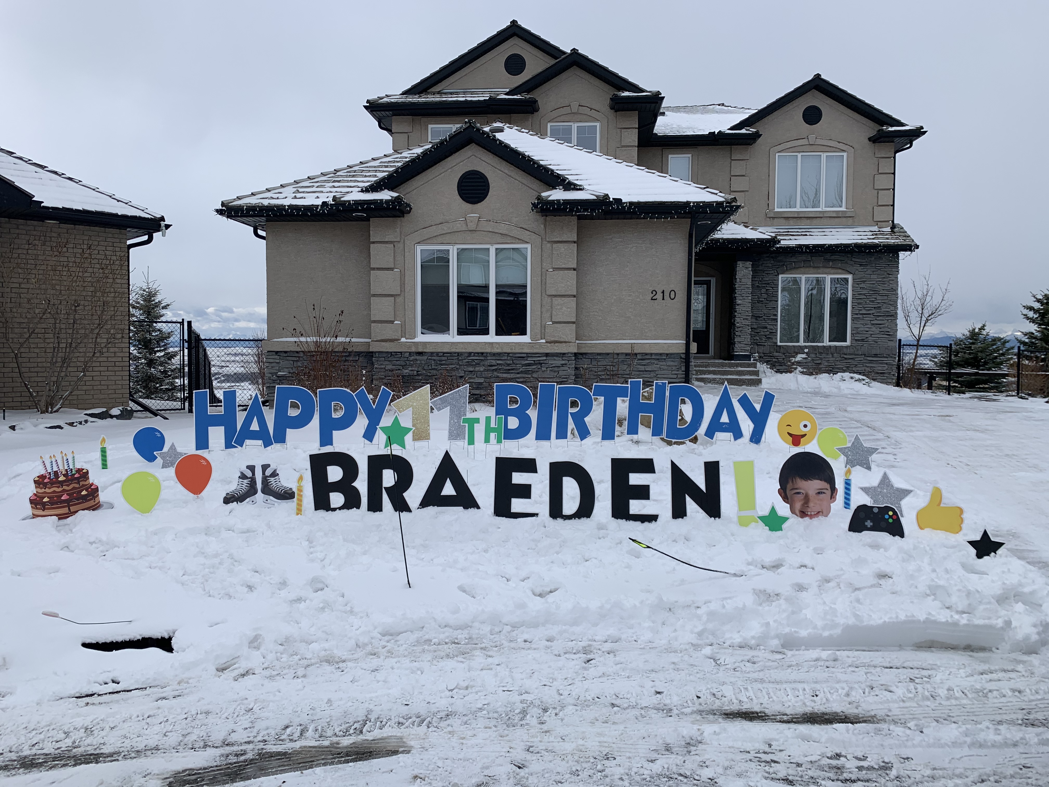 birthday yard signs calgary