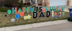 Birthday yard greeting Calgary