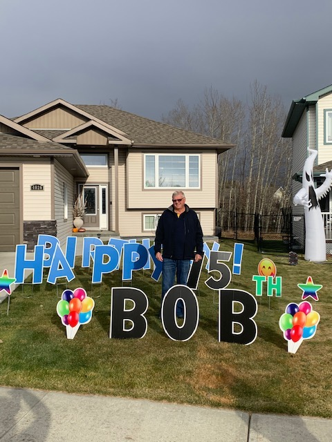 Birthday Lawn Greeting Calgary