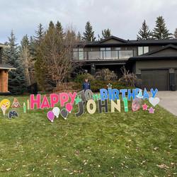 Birthday Yard Sign Calgary