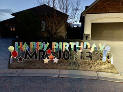 Calgary birthday displays covid