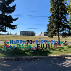 Birthday Lawn Sign Rental Calgary