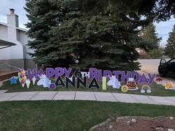 Birthday lawn Cards calgary