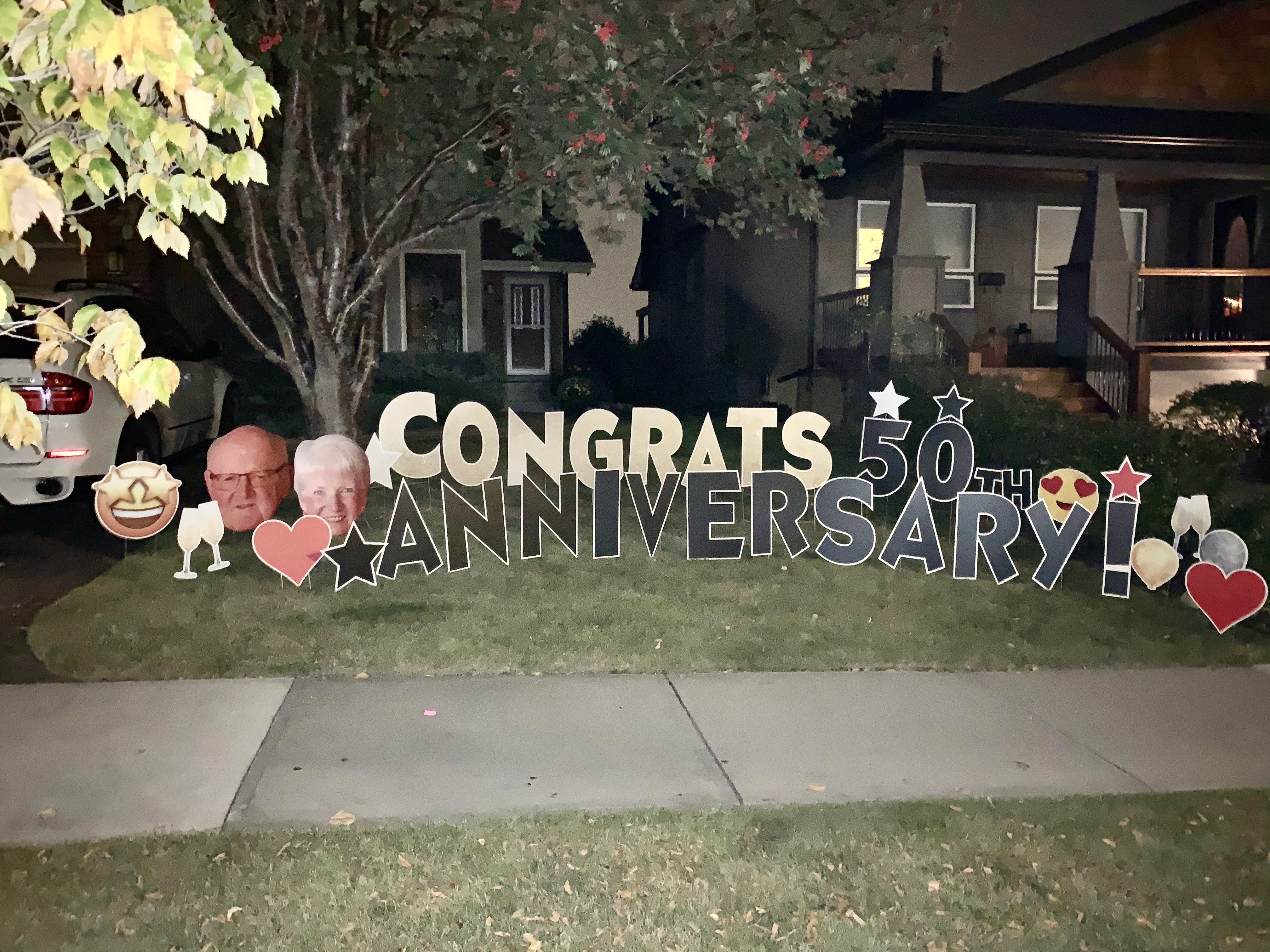 Anniversary Lawn Sign Rental Calgary