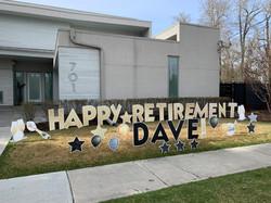 Retirement lawn sign calgary