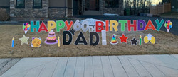 Calgary birthday lawn display