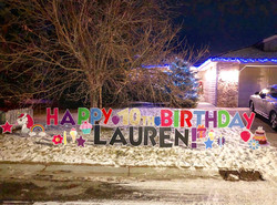 Covid Birthday Yard Greeting Calgary