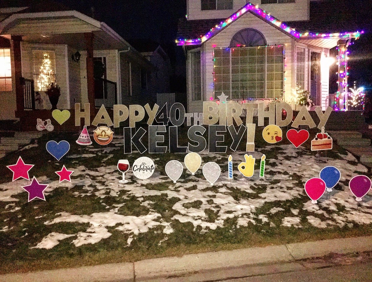 Calgary Birthday Lawn Greetings