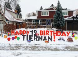 Surprise Birthday Lawn Card Greeting Calgary
