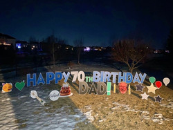 70th Birthday Lawn Greeting Calgary
