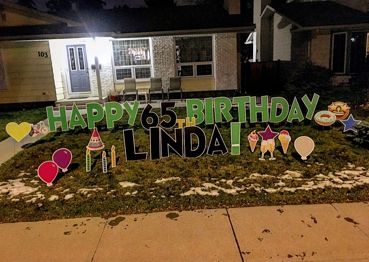 Birthday Lawn Sign Greeting Calgary