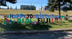 Birthday Lawn Greeting Sign Calgary