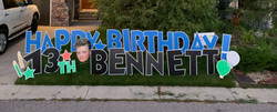 Lawn Displays for Birthdays Calgary