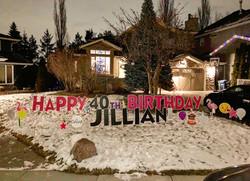40th Birthday Lawn Greeting Calgary
