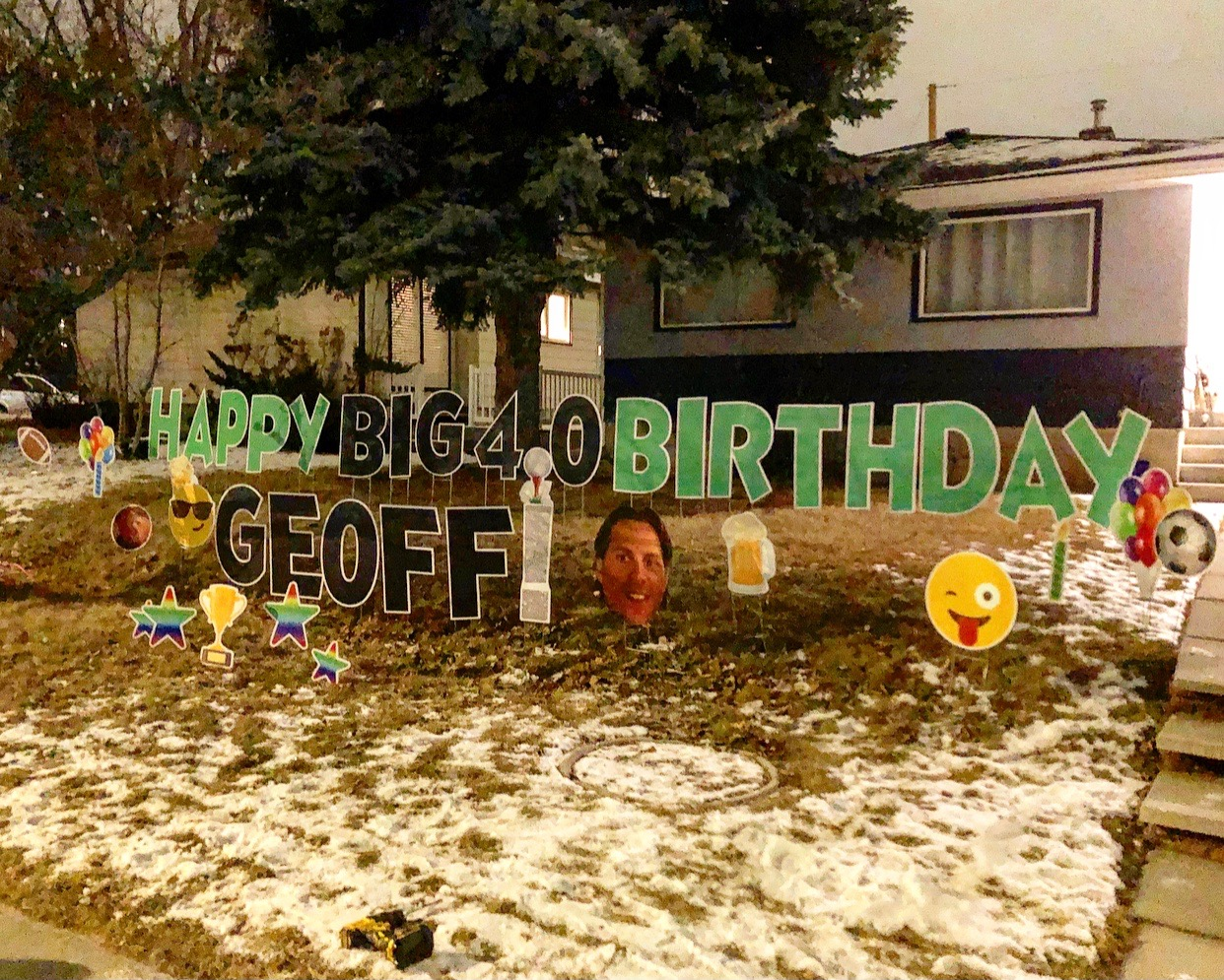 40th Birthday Lawn Greeting Calgary