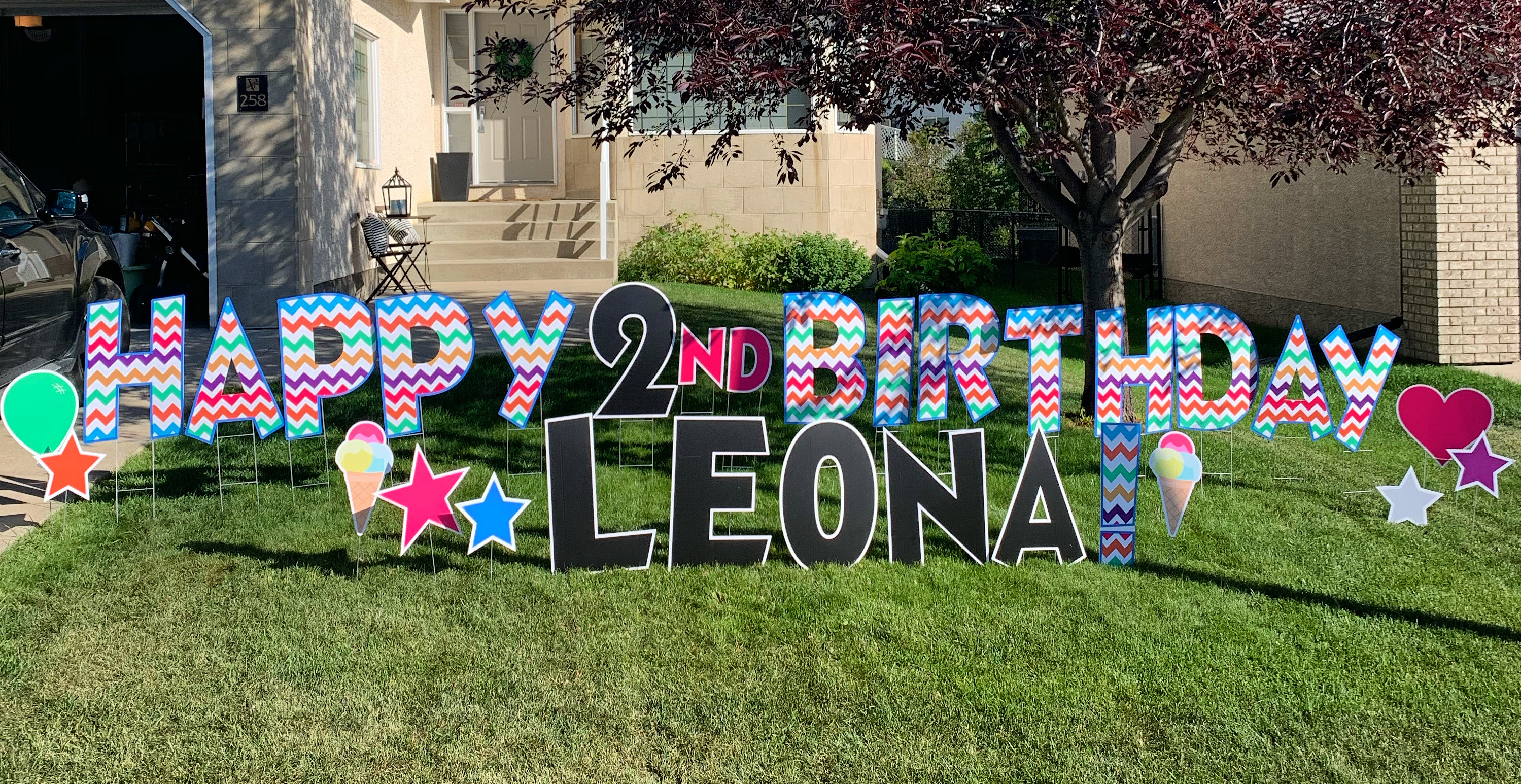 Birthday Lawn Sign Rental Calgary