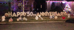 Happy 50th Anniversary Lawn Greeting