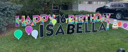 Birthday lawn greeting Calgary