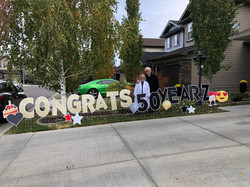 50th Anniversary Gift for Parents Lawn Sign Rental Calgary