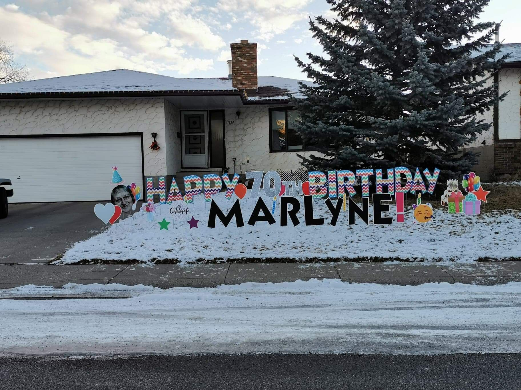 Covid Birthday Yard Greeting Calgary