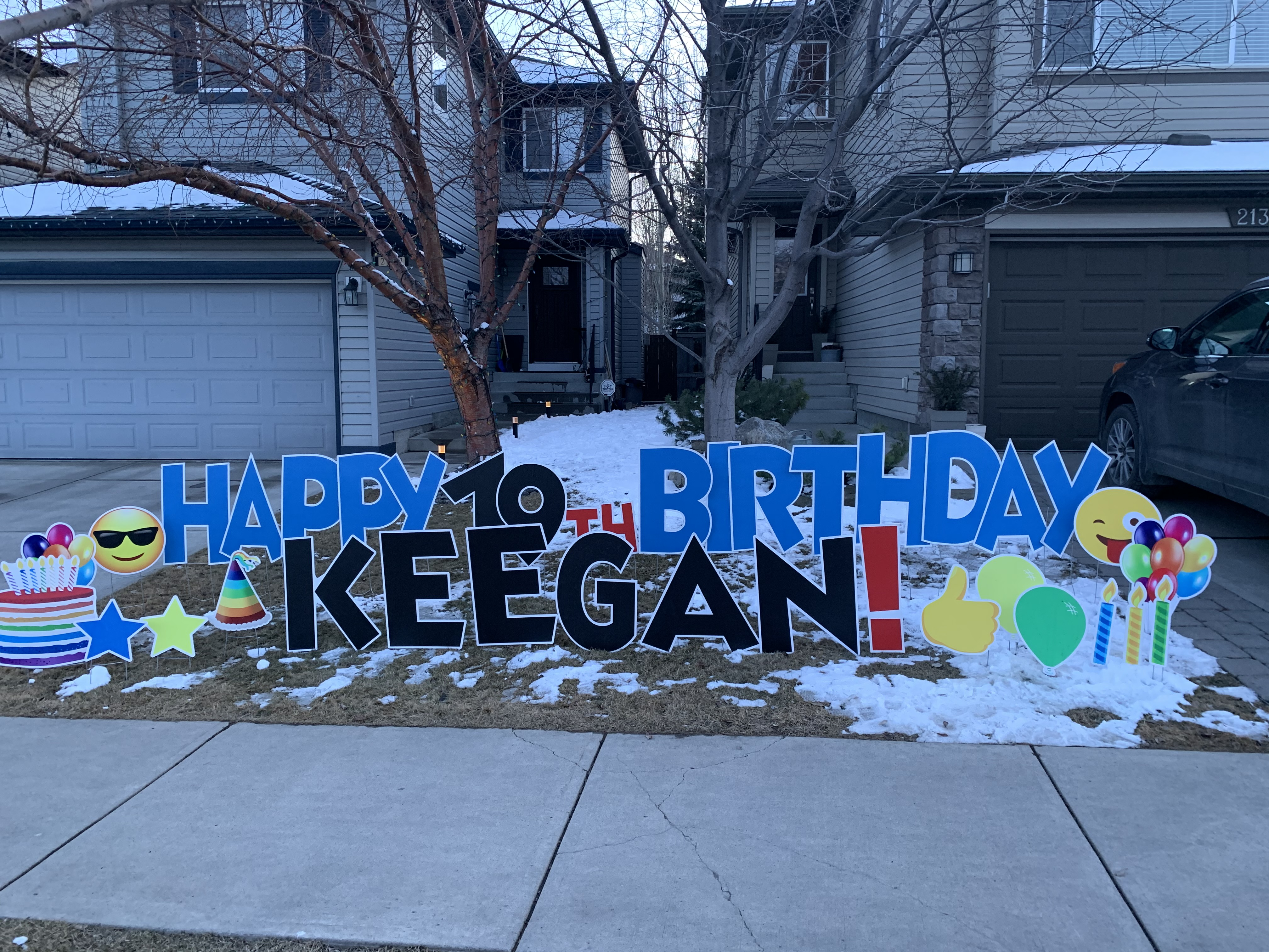 yard displays signs calgary