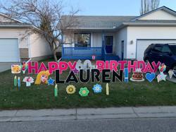 Birthday lawn displays calgary