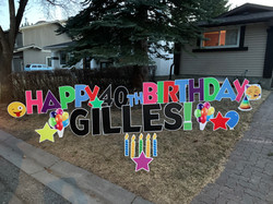 lawn birthday greeting