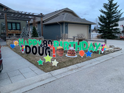 lawn birthday displays signs calgary