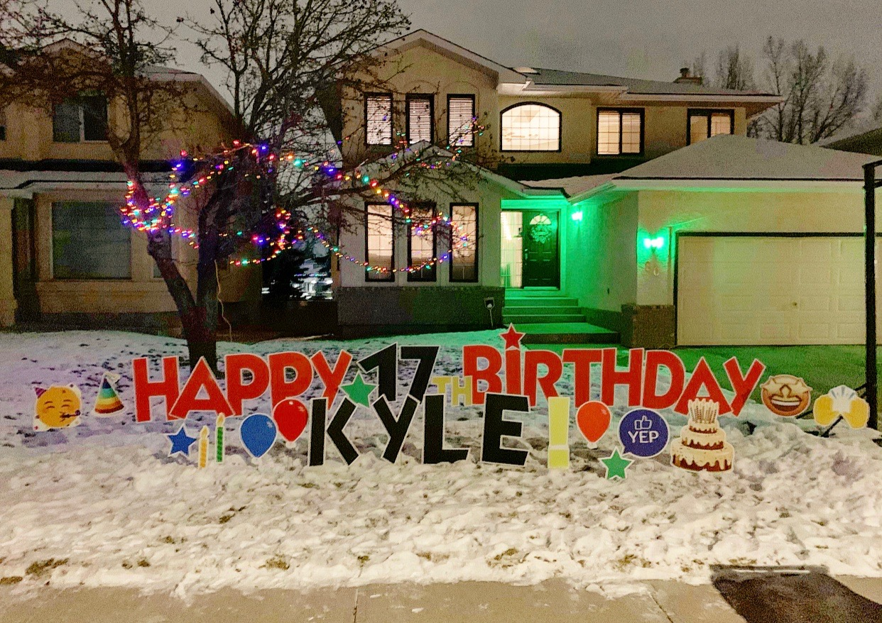 Teenage Birthday Lawn Greeting Calgary