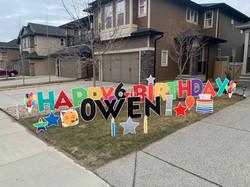 Birthday lawn greetings calgary