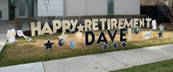 Retirement lawn display calgary