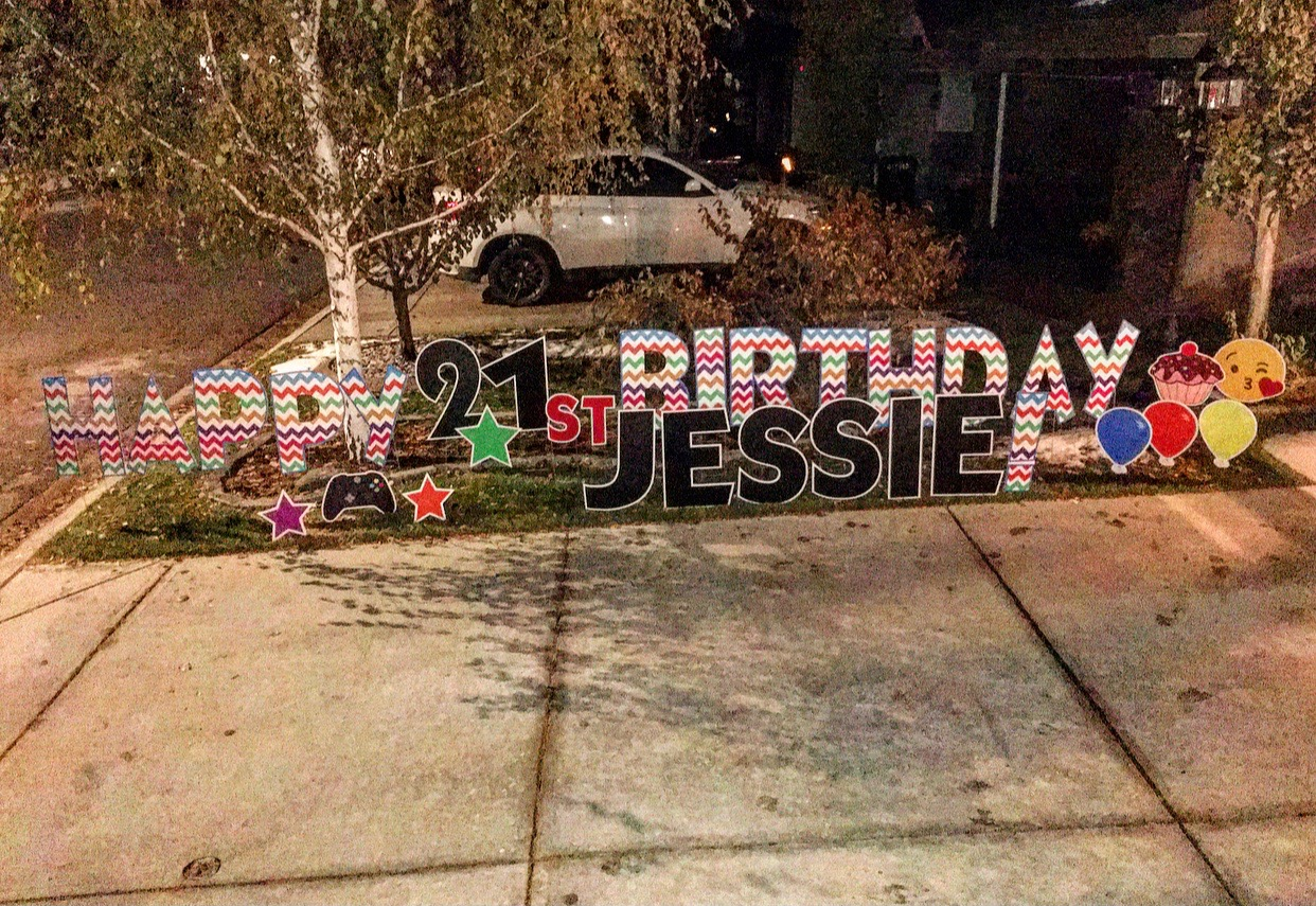 Birthday Lawn Sign Calgary